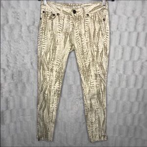 Free People Python Skinny Jeans Ankle Zipper